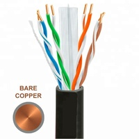 CAT6 UTP LAN CABLE easy pull box 305m test 4pair 24 AWG Cobre Cable de red RJ45 Cat6 UTP 1000ft