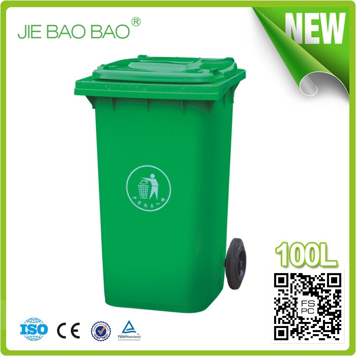 household products outdoor garbage container american style kitchen dustbin Wholesale Trash Cans HDPE 100l plastic bucket
