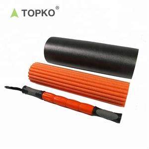 baae45d47b79 TOPKO factory direct supply custom exercise massage 3 in 1 foam roller