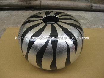 Unique Candle Holder For Celebrations Shinny Zebra Item