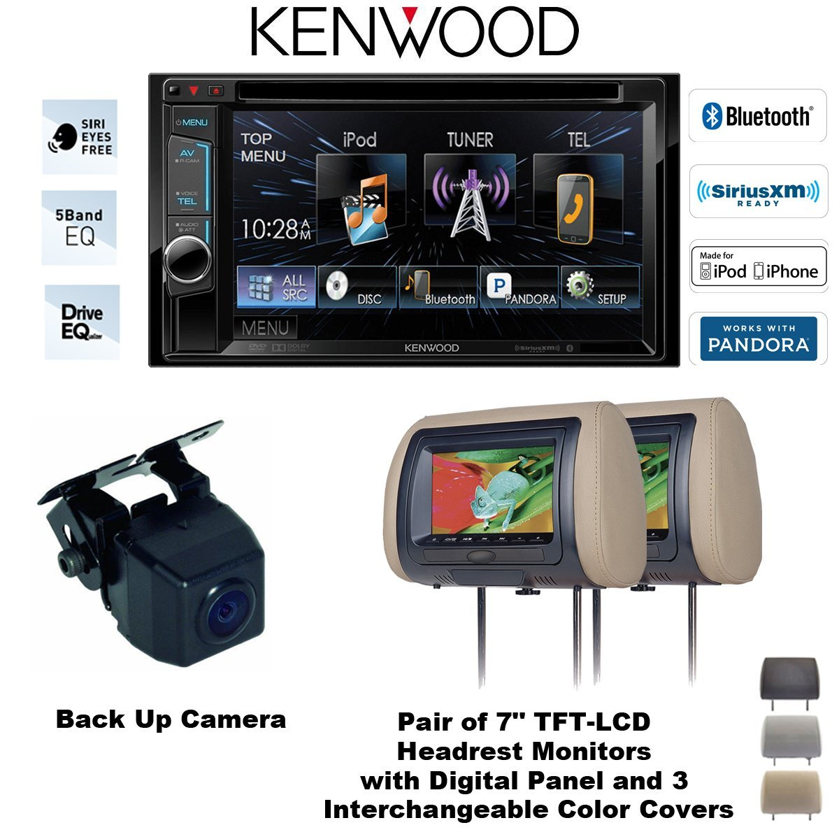 Cheap Kenwood Ddx371 Dvd Receiver Find Ddx516 Wiring Diagram Get Quotations Ddx392 62 With Two Headrest Monitors Cls700 And Backup Camera