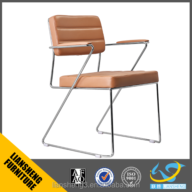 2016 Liansheng Latest office leather visitor chair allow stackable