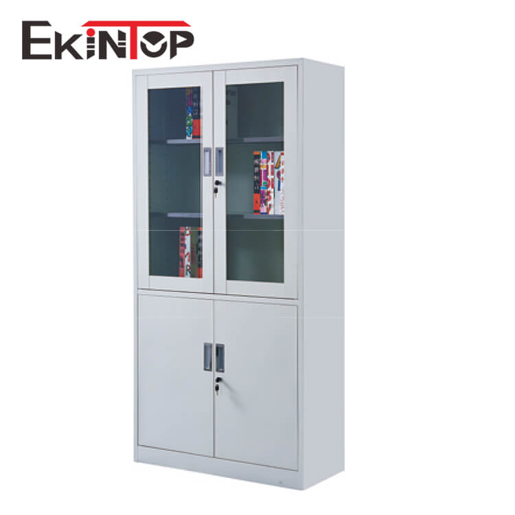 Ekintop beauty salon bookcase password stereo glass door cardboard storage file cabinet