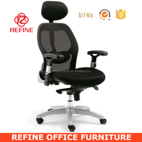 ergonomic office swivel boss executive mesh chair headrest adjustable RF-M041