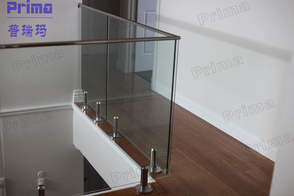Aluminum Glass Balustrade With Stainless Steel Channel Handrail ...