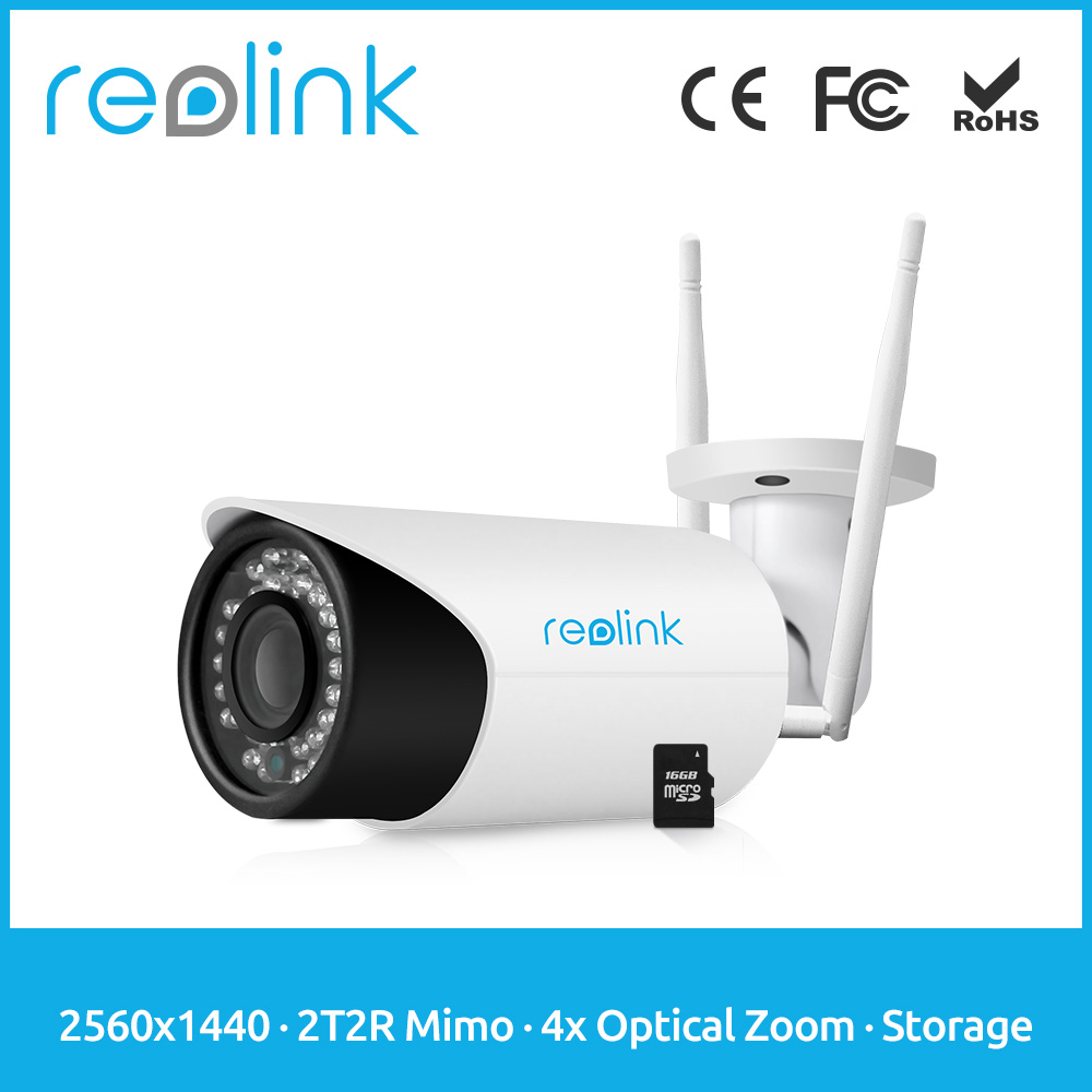 Reolink Wifi P2P Camera 4MP Wireless Autofocus Optical Zoom w Embedded SD Card RLC-411WS