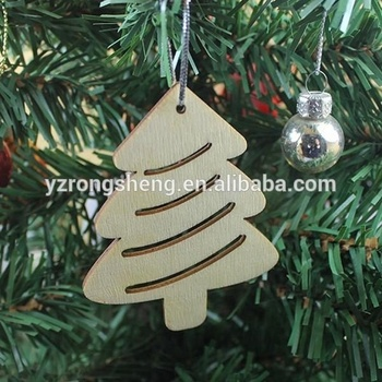 2018 hold sell 3d laser cutting handmade wood reindeer christmas tree ornamentsdecorations