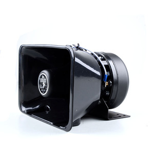 CE Certification Quality 12V 24V 100W Audio Super Sound Vehicle Truck Speaker Horn With Siren For Police Used