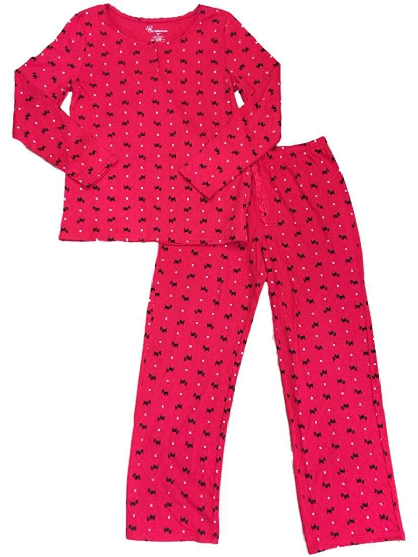 ef593d849a Get Quotations · Croft   Barrow Womens Scottish Terrier Puppy Scotty Dog  Pajamas Polka Dot Sleep Set