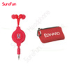 3.5mm stereo retractable earphone with customer logo