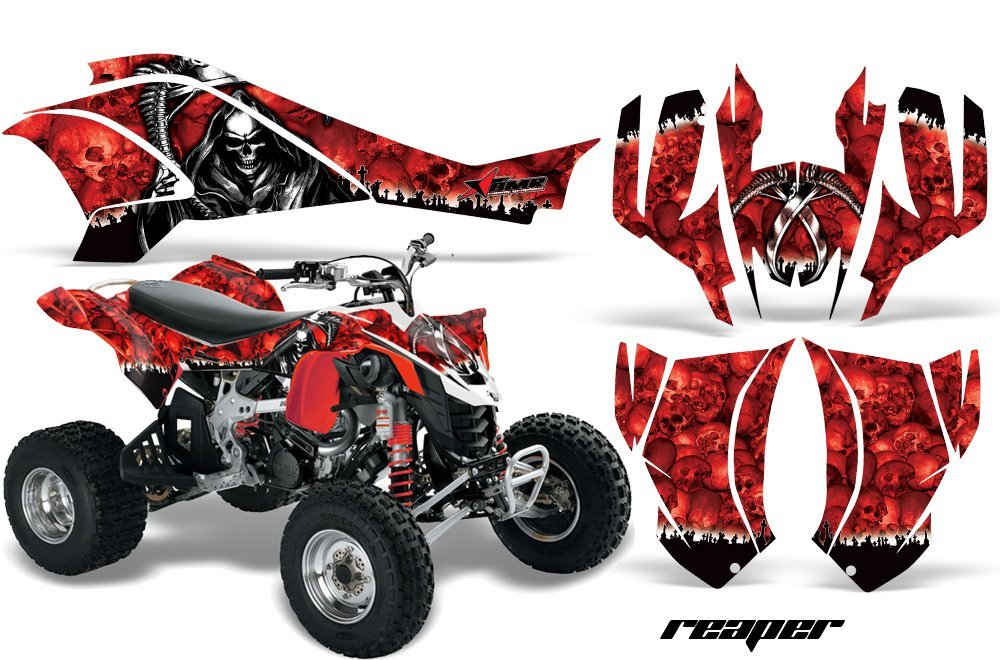 AMR Racing Graphics Can-Am DS-450 2008-2016 ATV Vinyl Wrap Kit - Reaper Red