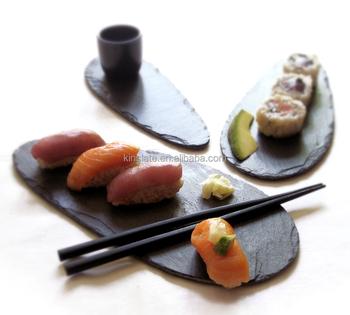 Natural stone material slate tableware kinslate slate sushi plate mini slate sushi plate  sc 1 st  Alibaba & Natural Stone Material Slate Tableware Kinslate Slate Sushi Plate ...