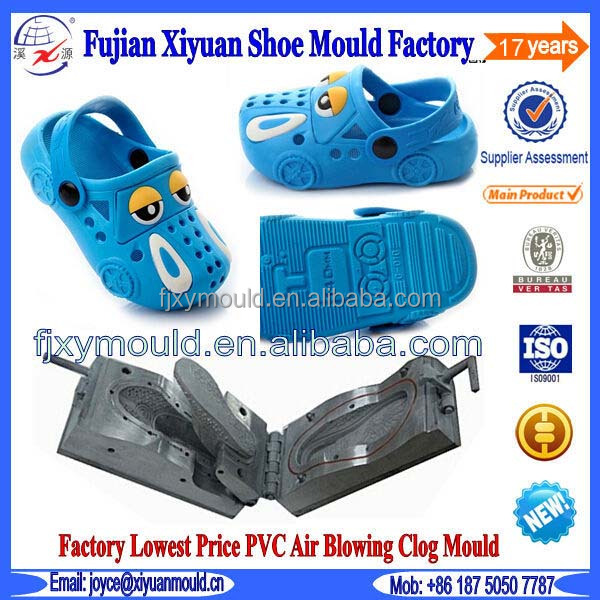 Cute Kids PVC Plastic Injection Clog Shoe Mould Factory