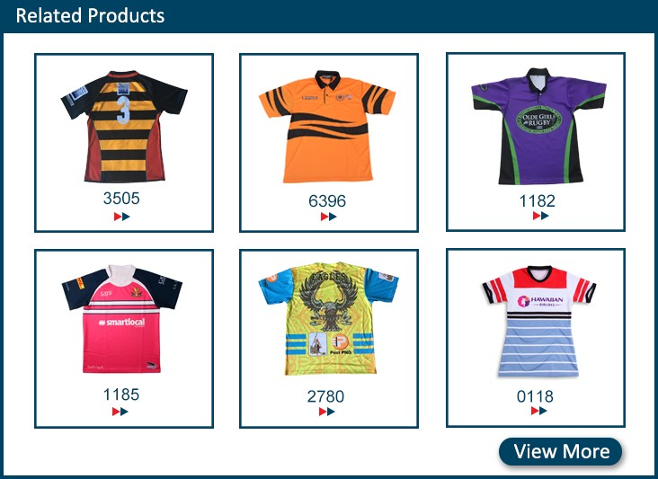 2017 new design oem fashionable slim fit rugby jersey junior