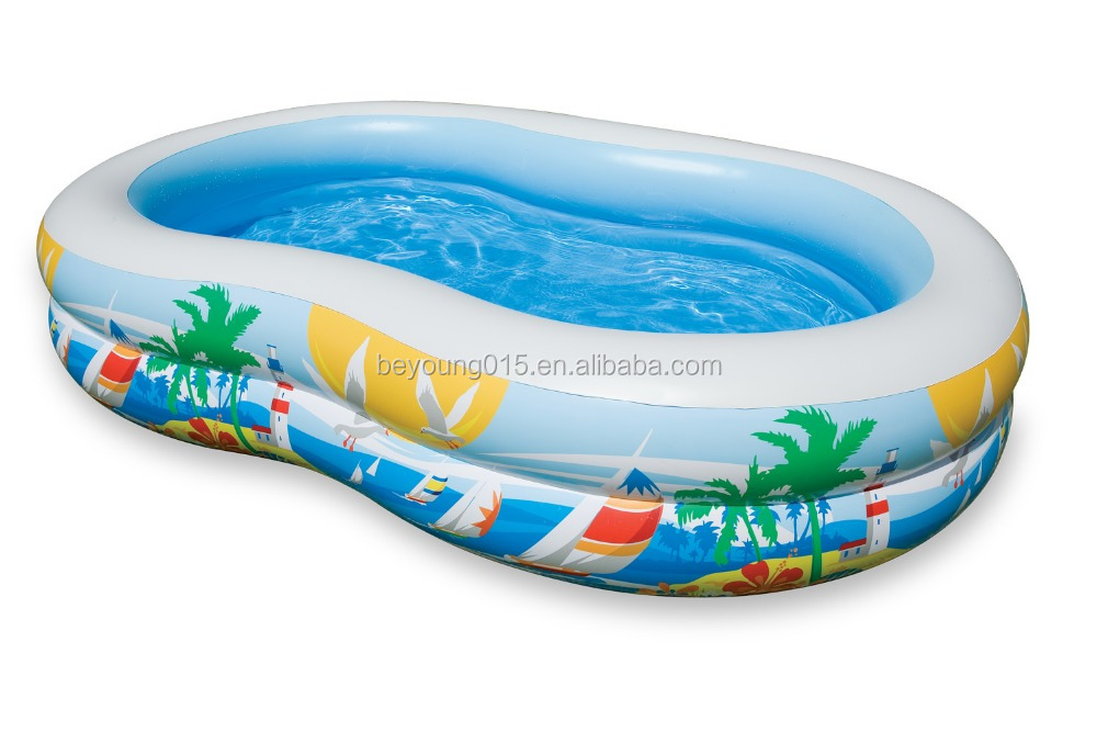 8 figure shape INTEX Swim Center Inflatable Paradise Seaside Kids Swimming Pool