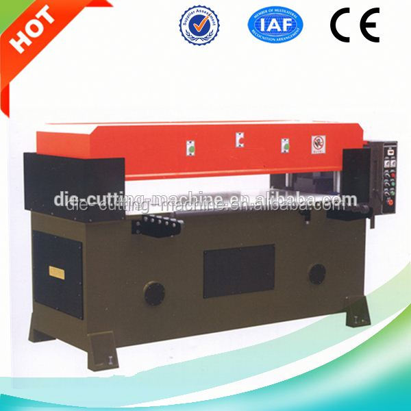 CNC four column hydraulic plane leather stripping machine/leather belt cutting press/leather skiving machine