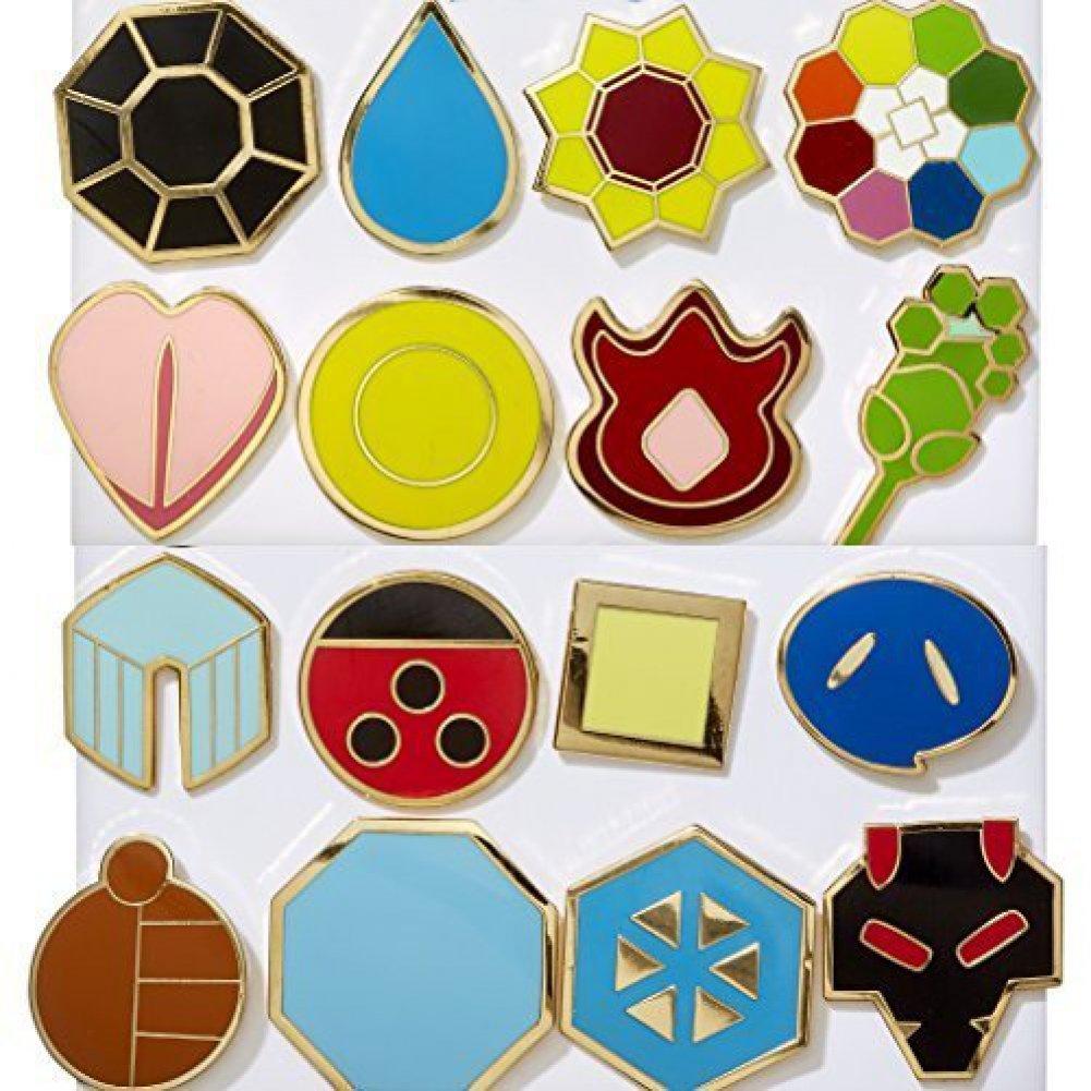 Pokemon Kanto (Gen 1) + Johto (Gen 2) Gym Badges by MEK