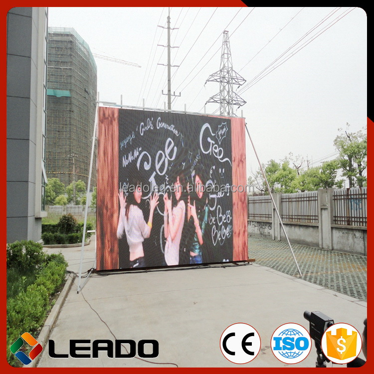Most popular quality outdoor smd p6 led wall