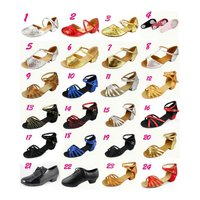 Latin Dance Shoe for Kids 100% Cow Leather, Suede and Satin