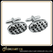 high quality oval shape black stone cufflinks men cufflinks
