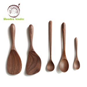 High quality black walnut wooden spoon set coffee shovel spoon