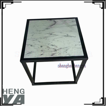 Onyx Marble Wood Coffee Table With Storage Ottomans