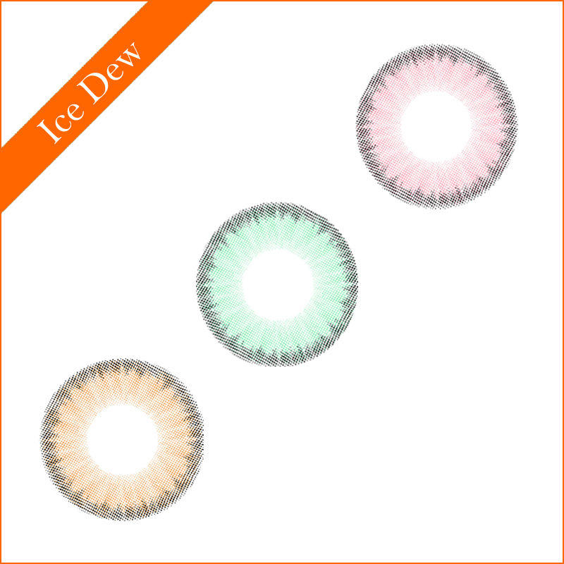 2017 New arrival ICE DEW color contact lens beauty eye doll lens yearly soft circle lenses