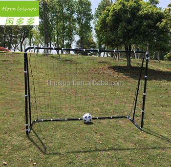 Black color football goal net