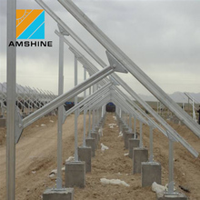 Solar Panel Ground Mounting System with Helical Screw Piles