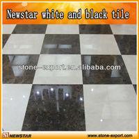newstar white and black marble tile