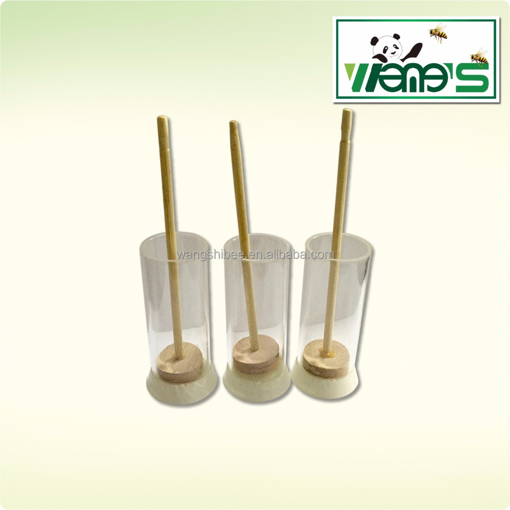 inexpensive and high quality plastic queen marking tools with plunger for beekeeping