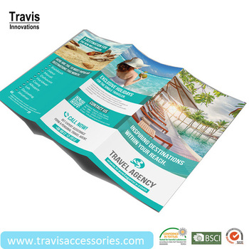 custom travel publicity pamphlet brochure for park tourist beach