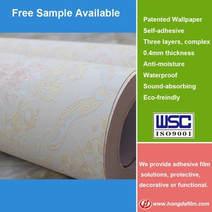 High Quality Self Adhesive PVC Wall Paper Made in China Wallpaper Roll Size