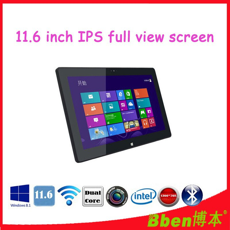 11.6 inch touch screen tablet PC 8GB 256GB 3G WCDMA phone call tablet pc windows 8 OS Dual core Dual camera