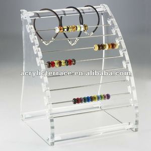 Clear Bead Curved Display Rack