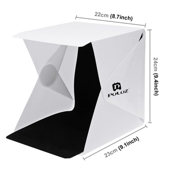 Folding Portable Photo Studio Light Box Kit With 2 Backgrounds,Include 2  Led Panels 1100lm Light,Unfold Size: 24*23*22cm - Buy Portable Photo Studio