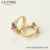 98760 xuping fancy triangle round colorful stone 14k huggies earrings, gold earrings for women