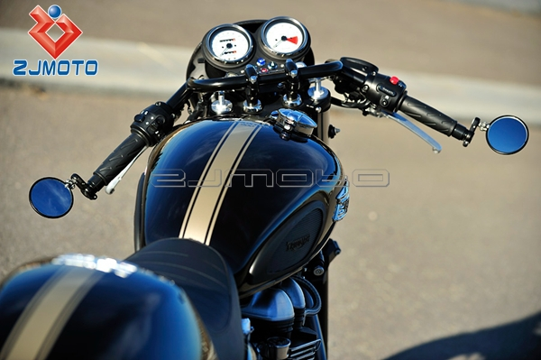 "zjmoto black motorcycle handlebar 1"" drag style z handle bars for"