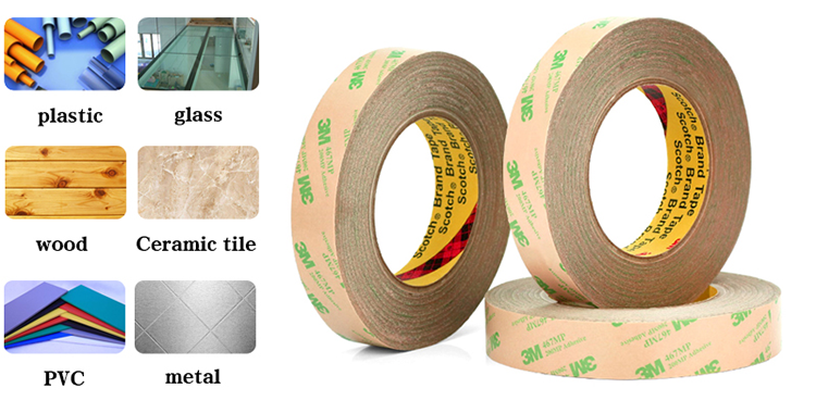 3M Brand Original Double Sided Acrylic Adhesive Tape 467MP Clear Non-Backing Hot Sale Wholesale Professinal Die Cutting Round