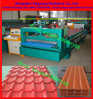 metal aluminum roof tile wall panel roll forming machine