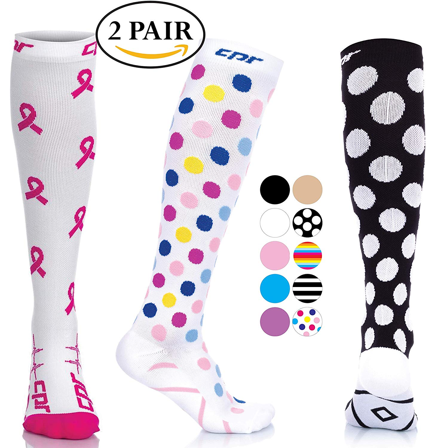 ff75974782 Get Quotations · CPR Compression Socks for Women Men Nurses Compression  Stockings for Woman Graduated Compression Sock 20 30