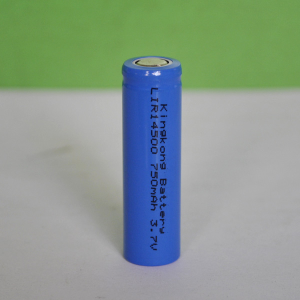 Flat top 3.7v Li-ion battery 14500 size 750mah capacity