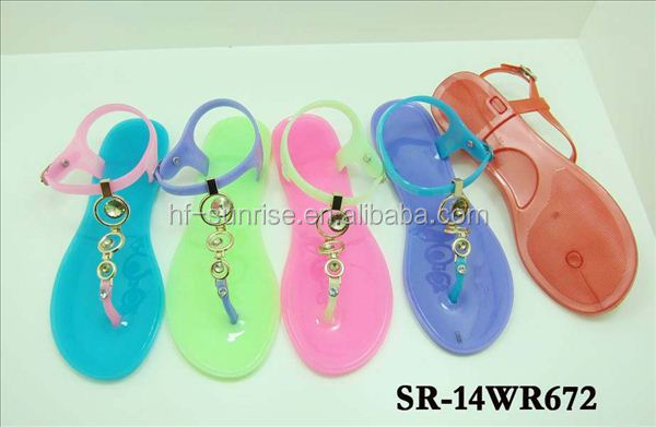 Sr-13wr398 Diamond Jelly Sandals Flat Heel Sandasl Wholesale Jelly ...