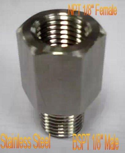 "BSPT Male to NPT Female 1/8"" Adapter Turbo Oil Pressure Sensor Gauge"