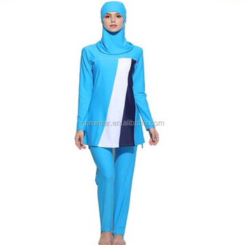 aafef32d66 Full covering modest Islamic muslim swimming suits fashional women swimwear  beach swimming suit