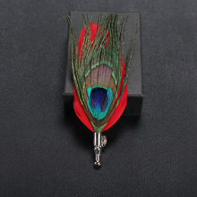 High quality wholesale handmade feather bulk men korea brooch