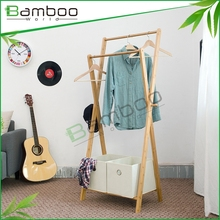 home bamboo collapsible coat shelf stand for storage box