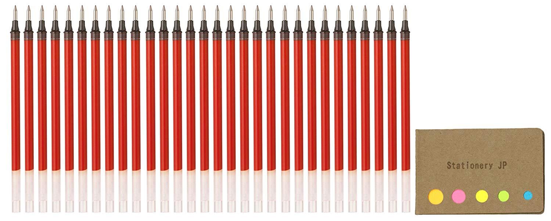 Uni-ball UMR-1-05 Refills for Signo Gel Ink Ballpoint Pen, UM-151 DX, 0.5mm, Red Ink, 30-pack, Sticky Notes Value Set