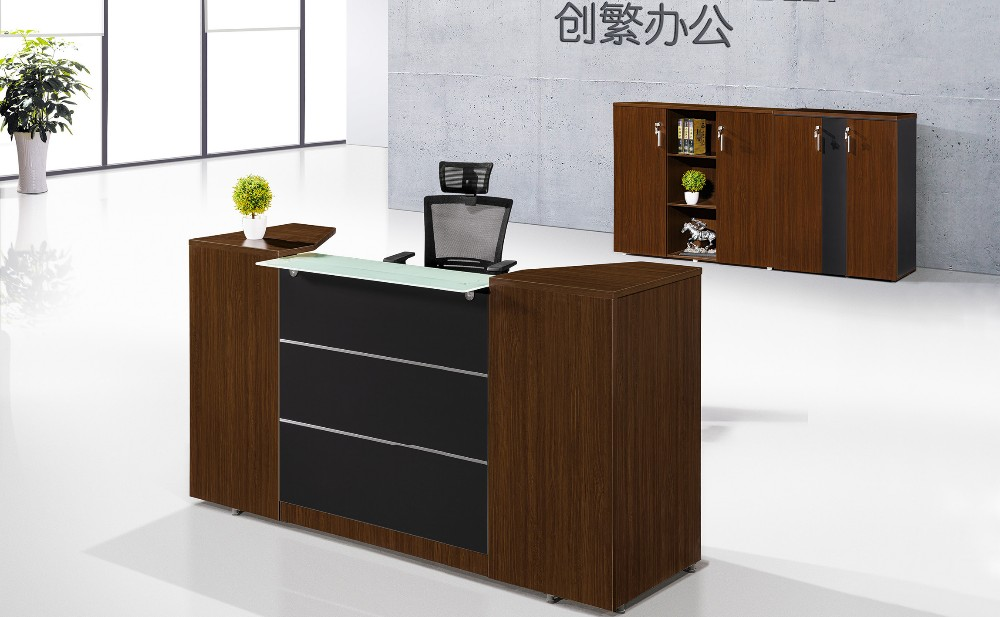 Square Look Office Furniture Design For Front Desk Table
