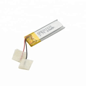 2019 hot sale small lithium polymer battery lipo battery 3.7v 60mah 301030 031030 rechargeable battery